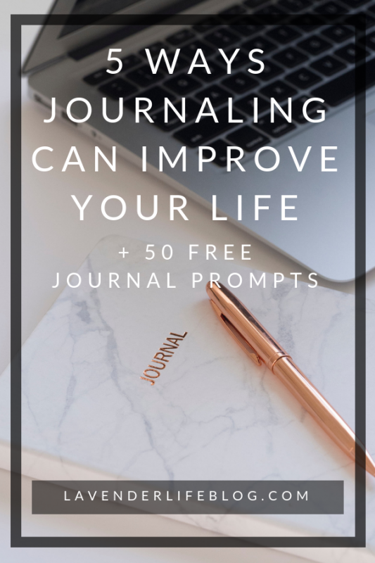 5 ways journaling can imrpve your life plus 50 free journal prompts