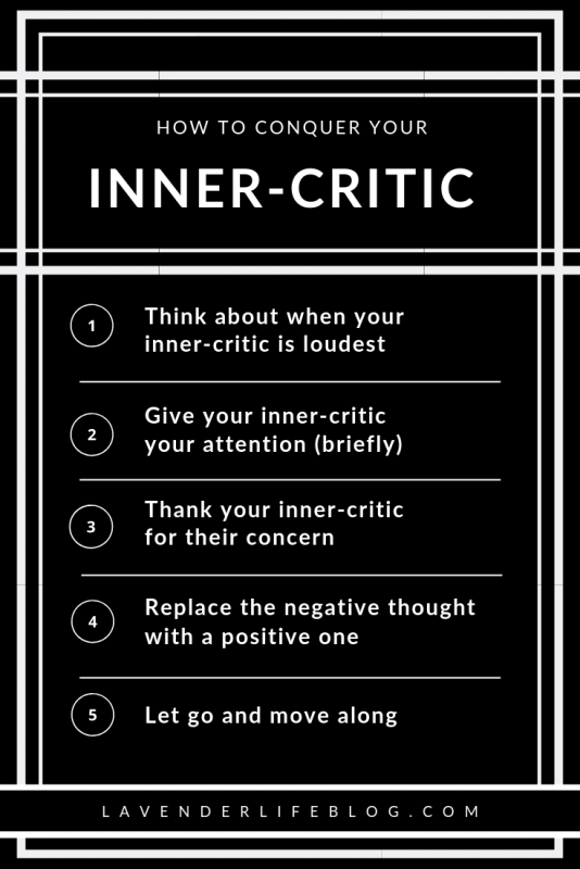 Five steps to conquer your inner-critic and overcome self-doubt