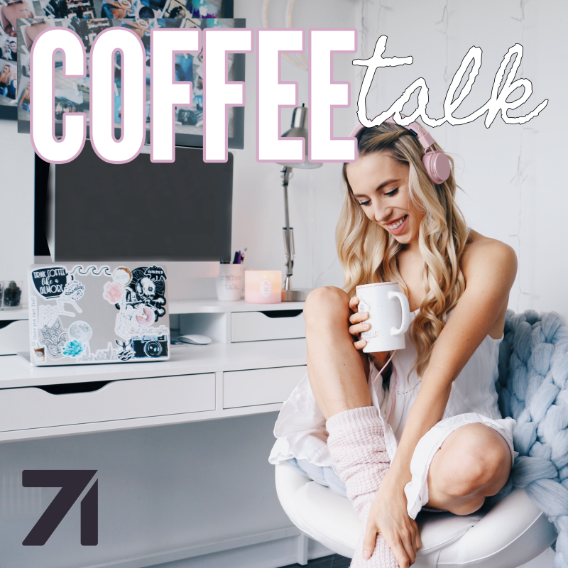 10 best female podcasts to inspire you to achieve your goals Coffee Talk with Kalyn Nicholson on Castbox or Stitcher